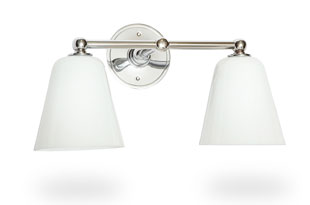 : PT T-Bar with White Glass Shade