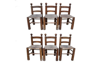 FRN814: Six Rustic Chairs