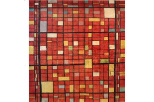 RUG053: Vintage Red and Yellow