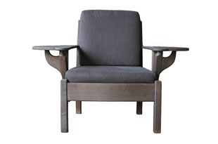 FRN836: Black Chair with Foldable Arms