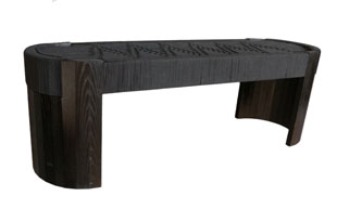 FRN748: Euclid Bench with Woven Cotton Cord Top