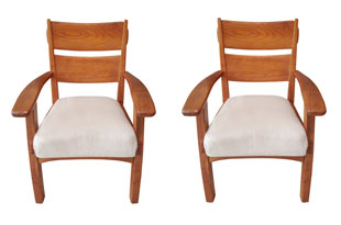 FRN901: Pair of Swiss Armchairs