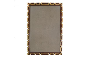 ACC1296: Gambrel Chain Link Mirror - Custom Colors avail