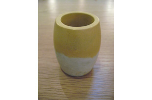 ACC943: Ovid Small Vase in Yellow and White