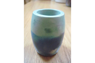 ACC937: Ovid Small Vase in Blue/Light Blue