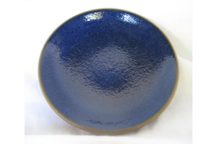 ACC100: Small Blue glazed Plate
