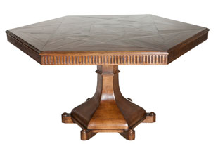 FRN591: Harbinger Perlin Walnut Pedestal Table
