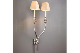 Available in different finishes: Hector Finch Starback Wall Light, Double