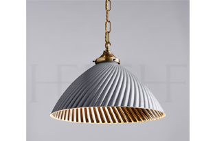 : Hector Finch Tiber Pendant Large, Gray