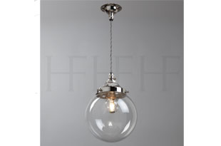 : Hector Finch Hector Mini Globe Pendant, Clear Glass