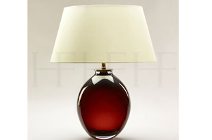 : Hector Finch Giacomo Amber Glass Table Lamp