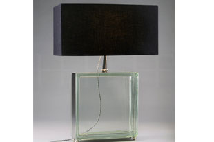 : Hector Finch Glass Block Table Lamp