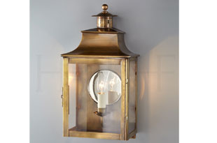 : Hector Finch Square Lantern With Chimney and Mirror