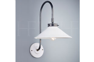 : Hector Finch Lucia Wall Light Bianco