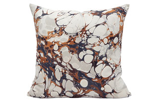 : Rule Of Three Seastone Abalone Square Pillow