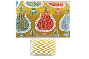 PIL353: Diodba Multi Tulips on Gold Pillow